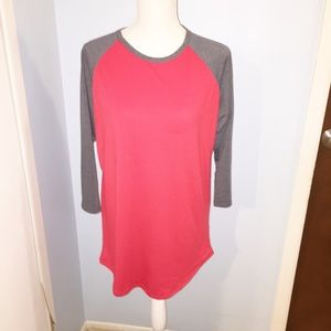 Lularoe Randy red and grey size L